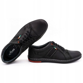 Olivier Men's leather casual shoes 238GT black 2