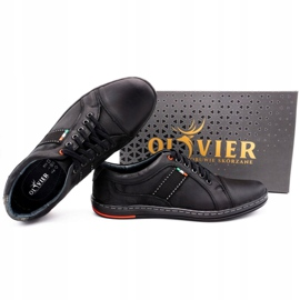 Olivier Men's leather casual shoes 238GT black 3