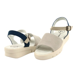 Comfortable Sandals Leather Filippo DS2021 / 21 GR blue grey 2