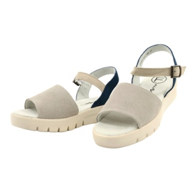 Comfortable Sandals Leather Filippo DS2021 / 21 GR blue grey 1