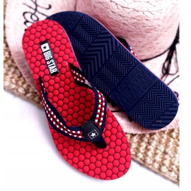 Women's Slippers Flip-flops Big Star Red DD274A252 navy blue 4