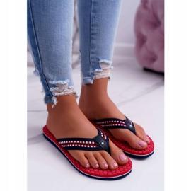Women's Slippers Flip-flops Big Star Red DD274A252 navy blue 2