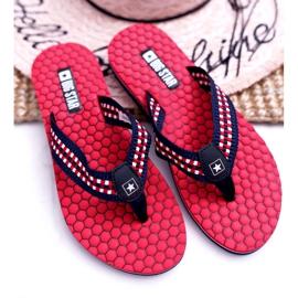 Women's Slippers Flip-flops Big Star Red DD274A252 navy blue 3