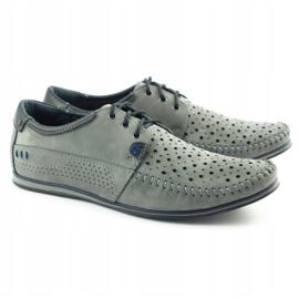 KOMODO Gray men's 875 moccasin summer shoes grey 1