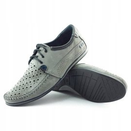 KOMODO Gray men's 875 moccasin summer shoes grey 2