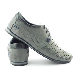 KOMODO Gray men's 875 moccasin summer shoes grey 3