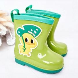 Children's Green Duck Galoshes 1