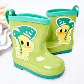 Children's Green Duck Galoshes 3