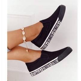 Women's Sneakers Slip-on Big Star HH274012 Black 4