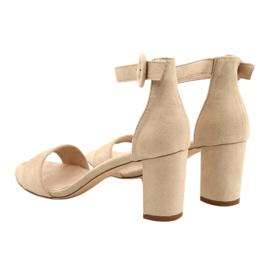 Sandals On Heel Beige Evento 20SD98-1617 3