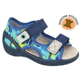 Befado children's shoes pu 065X156 navy blue green 1
