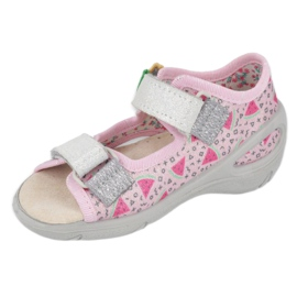 Befado preventive children's sandals 065X152 pink silver 3