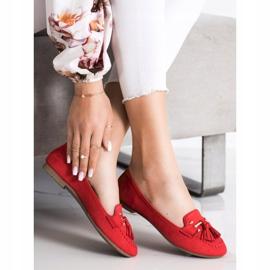 Kayla Fashionable moccasins red 1