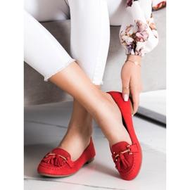 Kayla Fashionable moccasins red 3