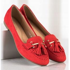 Kayla Fashionable moccasins red 2