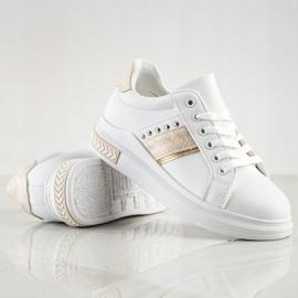SHELOVET Casual Sneakers white golden 1