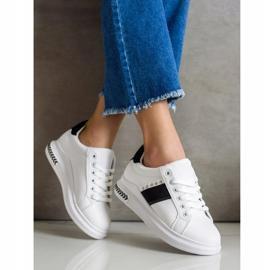 SHELOVET Casual Sneakers white black 3
