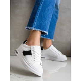 SHELOVET Casual Sneakers white black 2