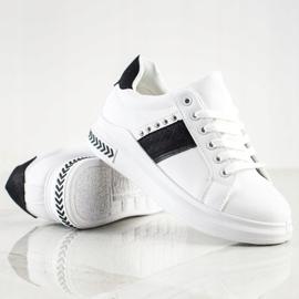 SHELOVET Casual Sneakers white black 1