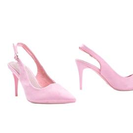 Pink eco suede pumps on Donna belt 1
