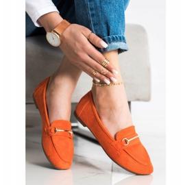 Anesia Paris Elegant Suede Moccasins orange 3
