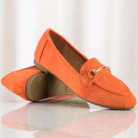 Anesia Paris Elegant Suede Moccasins orange 1