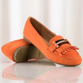 Anesia Paris Stylish moccasins orange 1