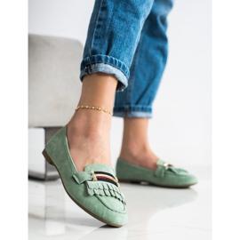 Anesia Paris Stylish moccasins green 3
