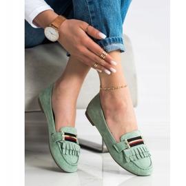 Anesia Paris Stylish moccasins green 2