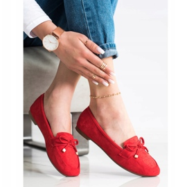 Anesia Paris Loafers With A Bow red 2