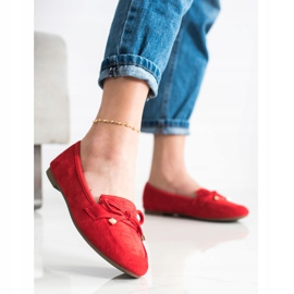 Anesia Paris Loafers With A Bow red 3