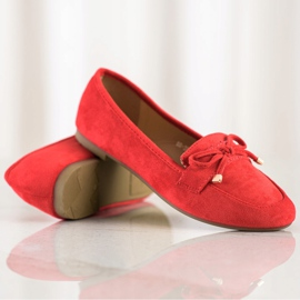 Anesia Paris Loafers With A Bow red 1