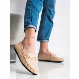 SHELOVET Comfortable Beige Loafers brown 1