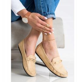 SHELOVET Comfortable Beige Loafers brown 3