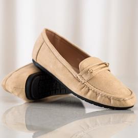 SHELOVET Comfortable Beige Loafers brown 2