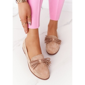 EVE Fringed Suede Loafers Beige Alicante 3