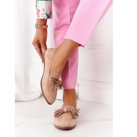 EVE Fringed Suede Loafers Beige Alicante 1