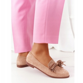 EVE Fringed Suede Loafers Beige Alicante 2