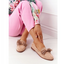 EVE Fringed Suede Loafers Beige Alicante 4