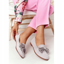 EVE Fringed Suede Loafers Gray Alicante grey 1