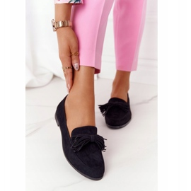 EVE Fringed Suede Loafers Black Alicante 2