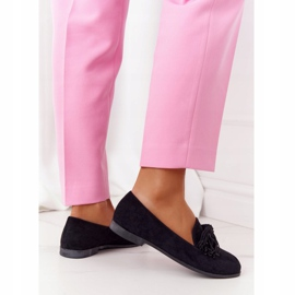 EVE Fringed Suede Loafers Black Alicante 3