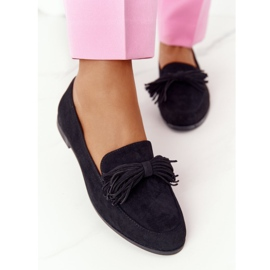 EVE Fringed Suede Loafers Black Alicante 4