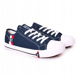 Men's Big Star HH174326 Navy blue sneakers 4