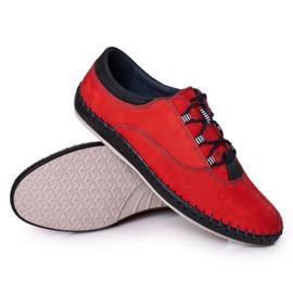 Bednarek Polish Shoes Men's leather shoes Bednarek Red 3