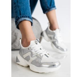 Weide White and silver Sneakers 2