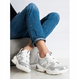 Weide White and silver Sneakers 3
