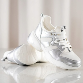 Weide White and silver Sneakers 1