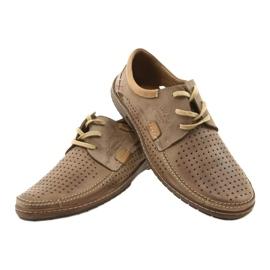 Mario Pala Men's openwork shoes 563 beige 13