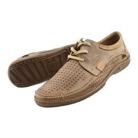 Mario Pala Men's openwork shoes 563 beige 12